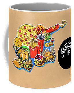 Kitchen Illustration Of Menu Of Fast Food  Coffee Mug