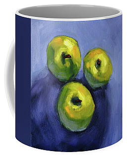 Coffee Mug featuring the painting Kitchen Pears Still Life by Nancy Merkle