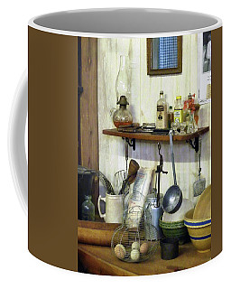 Kitchen With Wire Basket Of Eggs Coffee Mug by Susan Savad