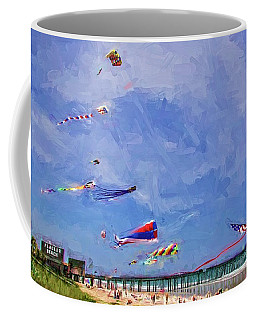 Kites At The Flagler Beach Pier Coffee Mug