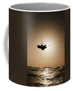 Kitesurfing At Sunset Coffee Mug