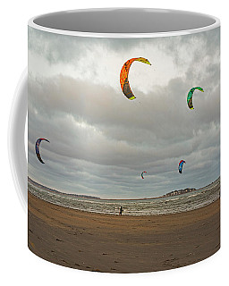 Kitesurfing On Revere Beach Coffee Mug