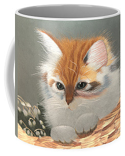 Kitten In A Basket Coffee Mug
