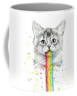 Kitten Puking Rainbows Coffee Mug