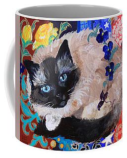 Kitty Goes To Paris Coffee Mug by Robin Maria Pedrero