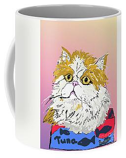 Coffee Mug featuring the digital art Kitty In Tuna Can by Ania M Milo