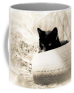 Kitty Stalks In Sepia Coffee Mug