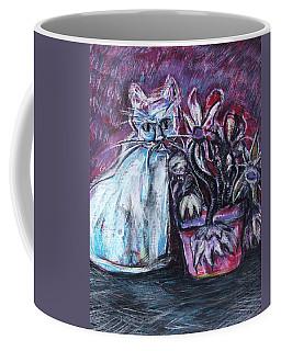 Kitty With Flowers Coffee Mug