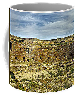 Coffee Mug featuring the photograph Kiva View Chaco Canyon by Kurt Van Wagner