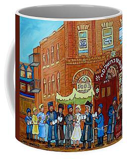 Klezmer Band Street Musicians Under The Chupa Wedding Bagg Street Jewish Art Carole Spandau          Coffee Mug