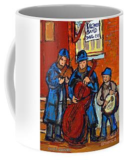 Klezmer Band Street Performance Jewish Musicians Live Band Jewish Art Carole Spandau Canadian Artist Coffee Mug by Carole Spandau