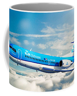 Coffee Mug featuring the digital art Klm F70 Cityhopper by James Weatherly