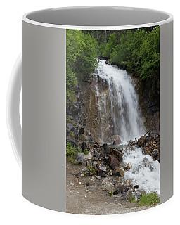 Coffee Mug featuring the photograph Klondike Waterfall by Ed Clark