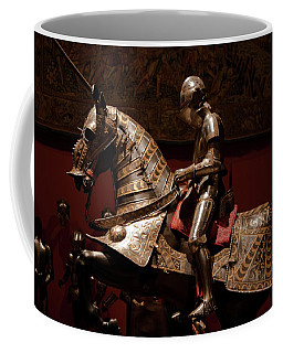 Knight And Horse In Armor Coffee Mug