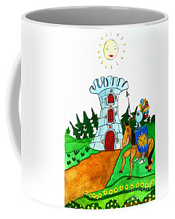 Brave Knight-errant And His Funny Wise Horse Coffee Mug