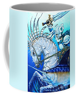 Coffee Mug featuring the digital art Knight Of Swords by Stanley Morrison