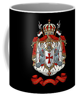 Knights Templar - Coat Of Arms Over Black Velvet Coffee Mug