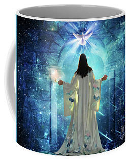 Coffee Mug featuring the digital art Knocking On Heavens Door by Dolores Develde
