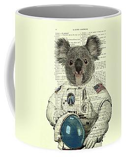 Koala In Space Illustration Coffee Mug