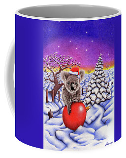 Koala On Christmas Ball Coffee Mug