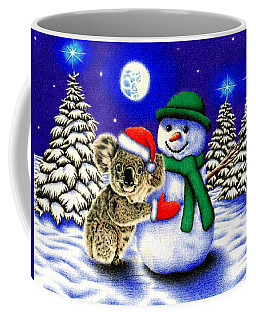 Koala With Snowman Coffee Mug