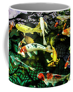 Coffee Mug featuring the photograph Koi 2018 1 by Phyllis Spoor