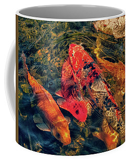 Koi Fish Fresco One Coffee Mug