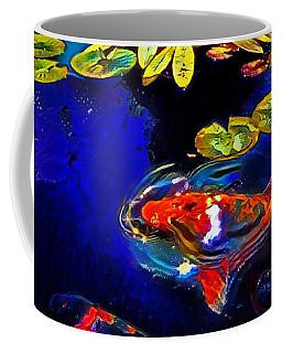 Koi In A Pond Of Water Lilies Coffee Mug
