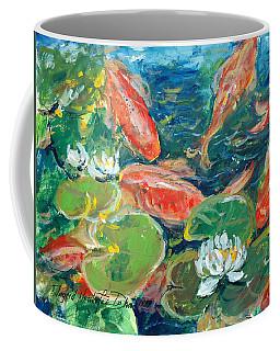 Koi Coffee Mug by Alexandra Maria Ethlyn Cheshire