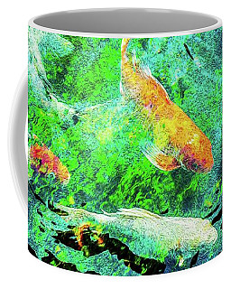 Coffee Mug featuring the photograph Koi Pond Abstract by SR Green
