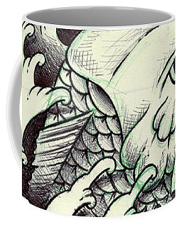 Koi Through The Water Coffee Mug