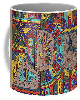 Kokopelli Mandala Coffee Mug