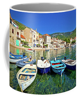 Komiza On Vis Island Turquoise Waterfront Coffee Mug