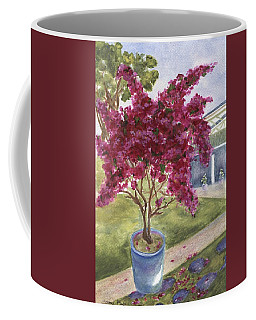 Coffee Mug featuring the painting Kona Bougainvillea by Jamie Frier
