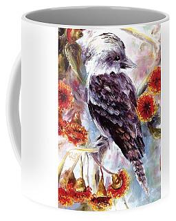 Kookaburra In Red Flowering Gum Coffee Mug
