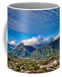 Coffee Mug featuring the photograph Koolau And Pali Lookout From Kanohe by Dan McManus