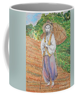 Korean Farmer -- The Original -- Old Asian Man Outdoors Coffee Mug