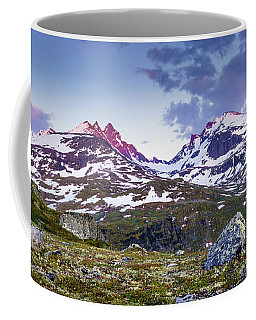 Coffee Mug featuring the photograph Crimson Peaks by Dmytro Korol