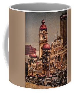 Coffee Mug featuring the photograph Kuala Lumpur, Malaysia - Red Onion Domes by Mark Forte
