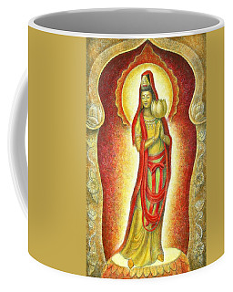 Kuan Yin Lotus Coffee Mug