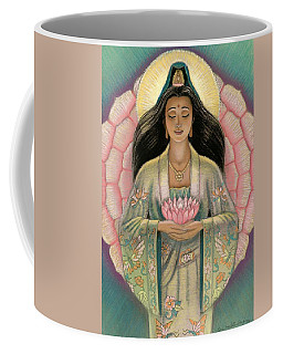 Kuan Yin Pink Lotus Heart Coffee Mug