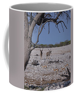 Coffee Mug featuring the photograph Kudu And Springbok 2 by Ernie Echols