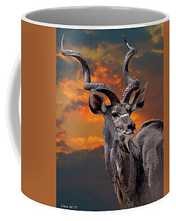 Kudu At Sunset Coffee Mug
