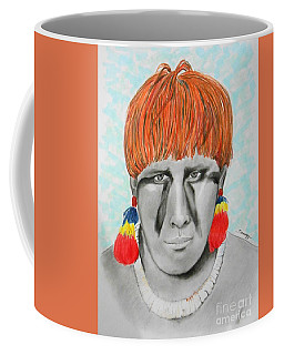 Kuikuro From Brazil -- Portrait Of South American Tribal Man Coffee Mug
