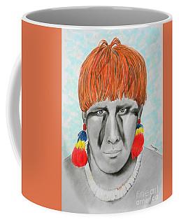 Kuikuro From Brazil -- Portrait Of South American Tribal Man Coffee Mug