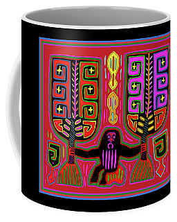 Kuna Indian Mola Man With Fans Coffee Mug
