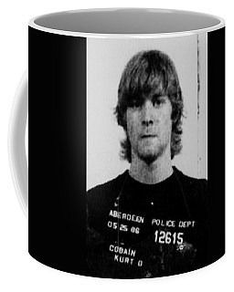 Kurt Cobain Mug Shot Vertical Black And Gray Grey Coffee Mug