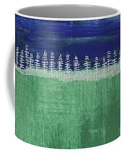 Coffee Mug featuring the painting Kurt's Woods by Kim Nelson