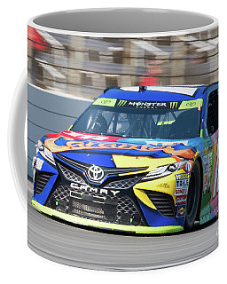 Kyle Busch Coming Out Of Turn 1 Coffee Mug