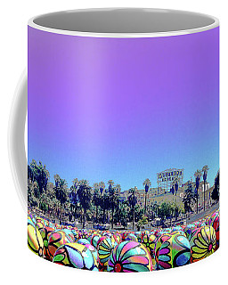 Coffee Mug featuring the photograph Los Angeles Glows In The Spheres Of Macarthur Park by Lorraine Devon Wilke